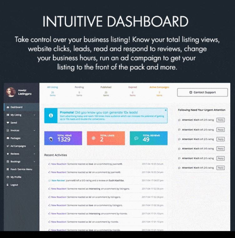 Get Your Own Business Dashboard with Your Entering Cape Cod Account
